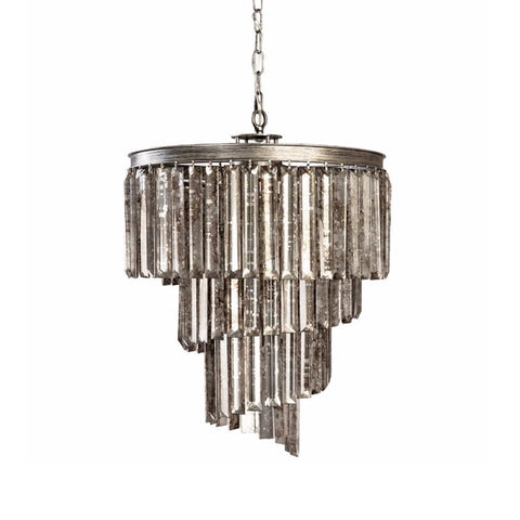 Fresno silver iron glass chandelier