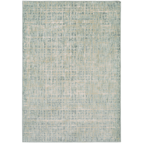 Giza Rug green ivory acrylic rug sustainable