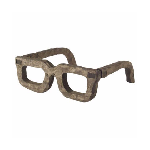 wooden glasses grey