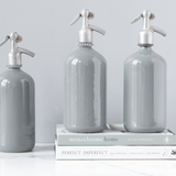 seltzer bottles grey
