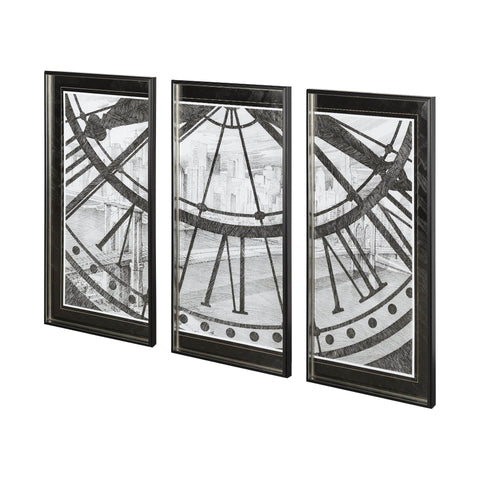 Half Clock Wall Art