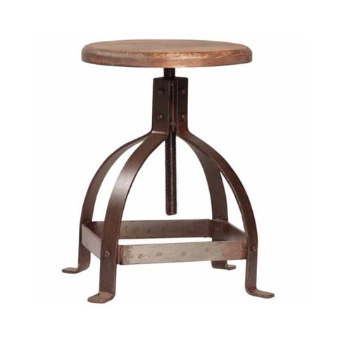 harbor wood iron adjustable stool