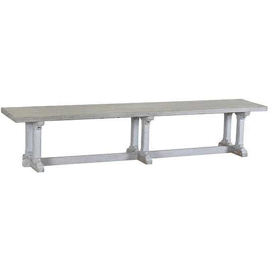 Harvey grey wood bench