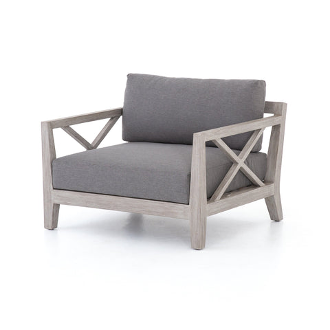 Hayward outdoor chair charcoal upholstery teak