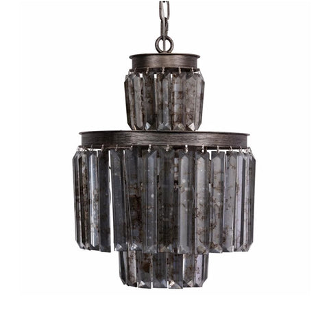 Henderson glass bronze chandelier small