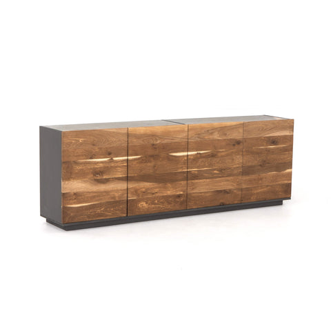 holbrook sideboard marble reclaimed wood