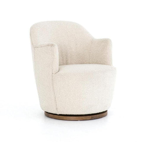 Hooper off-white upholstery swivel chair