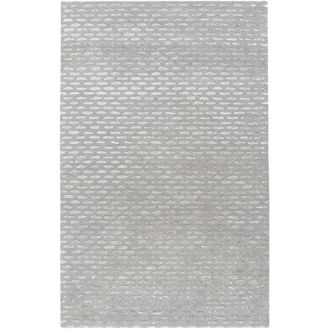 Jepsen grey wool silk rug
