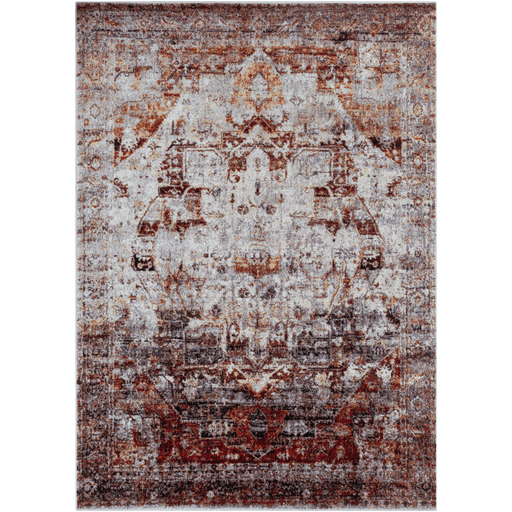 Jordan red faded traditional acrylic rug