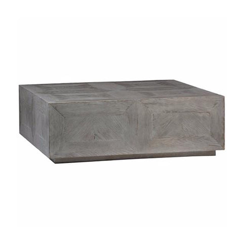 Kari grey oak wood square coffee table