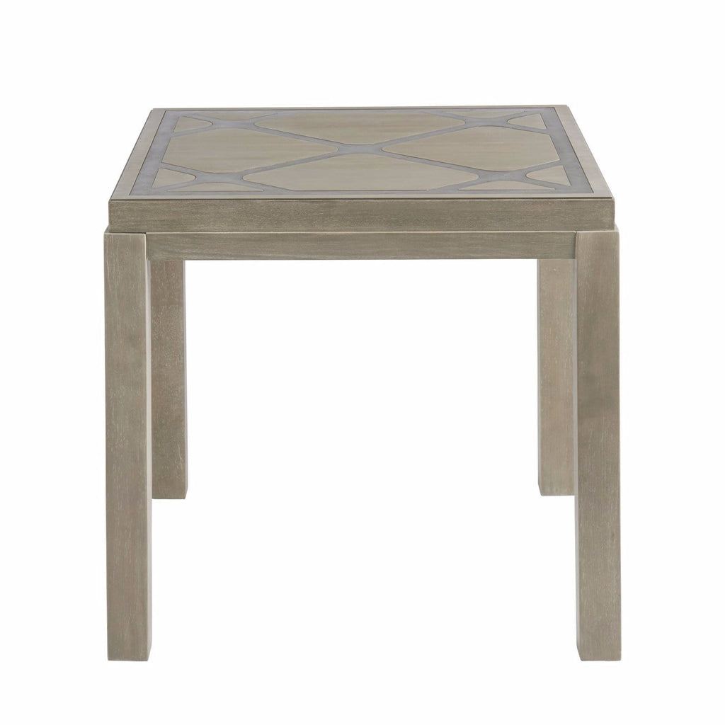 Keaton square metal inlay end table