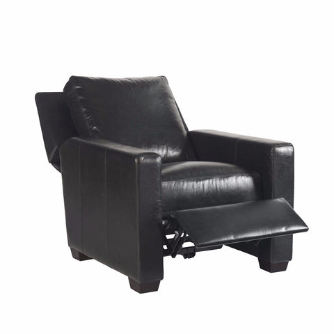 Larsen black leather recliner