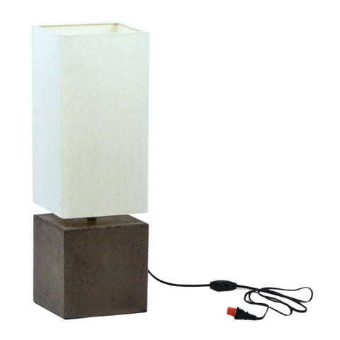 Durham concrete cube desk table lamp