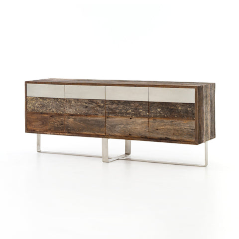 Marcus reclaimed peroba walnut wood steel sideboard