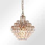 Melody crystal brass chandelier