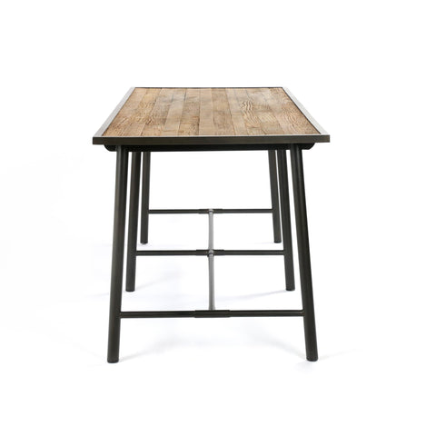 Old oak reclaimed wood iron bar table