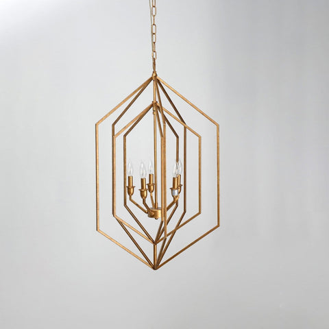 Oakley brass chandelier