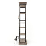 Oberlin pine iron bookcase side