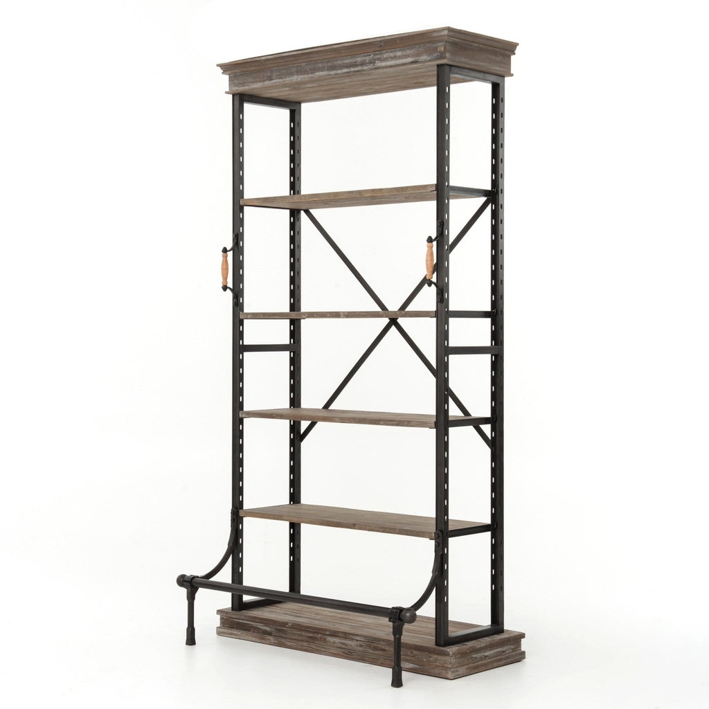 Oberlin pine iron bookcase
