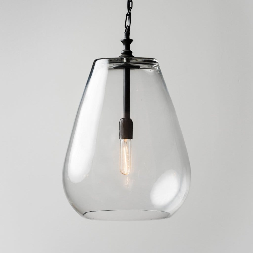Olson industrial glass metal pendant light