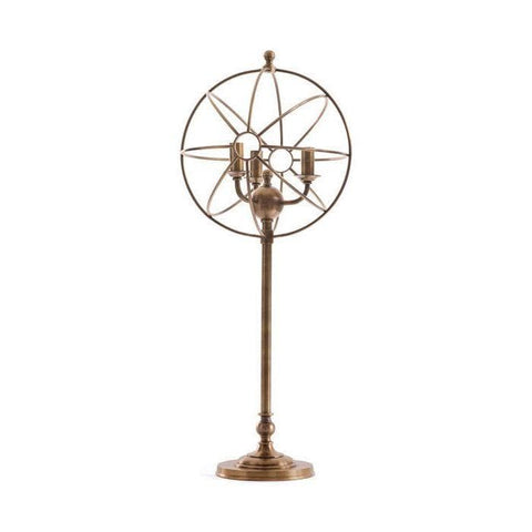 Brass metal Orbital Table Lamp industrial
