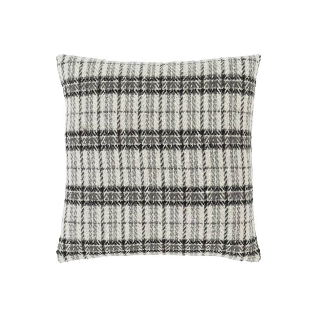 "Andi Pillow 20"" plaid down filling"
