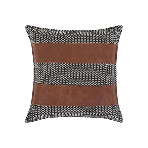 "fina 20"" down leather pillow"