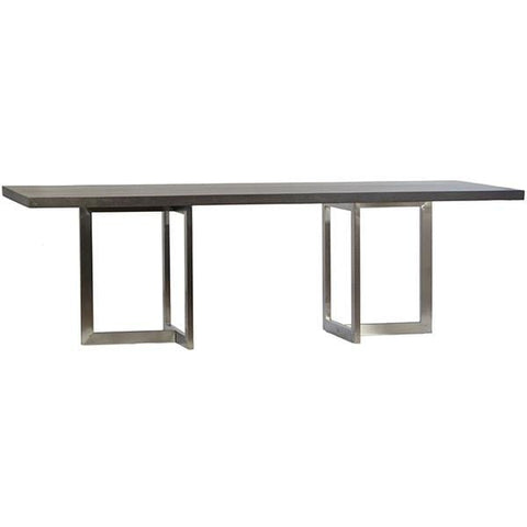 quantico steel lava stone concrete dining table