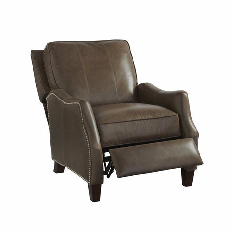 Reuben umber leather recliner