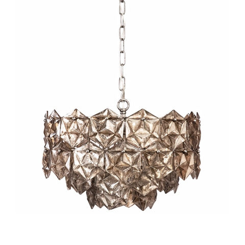 Riverside silver glass chandelier
