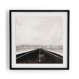 Road trip print watercolor-paper black white artwork
