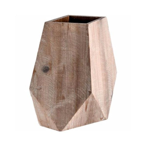 Rowan Vase wood geometric natural brown