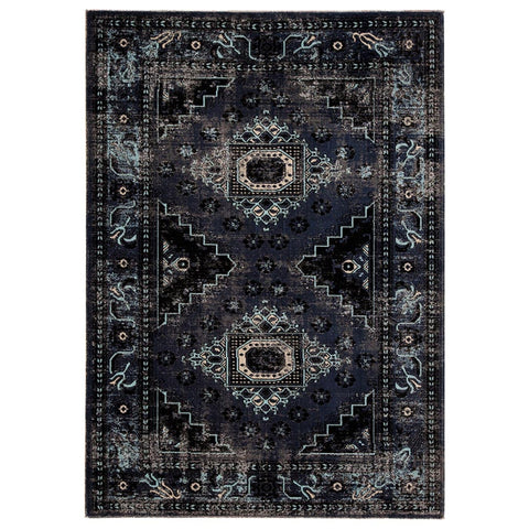 frida indoor outdoor blue aztec rug