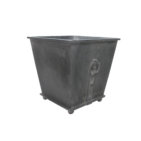 sevilla zinc planter small medium large square with white washed finish for sustainable furniture outdoor view