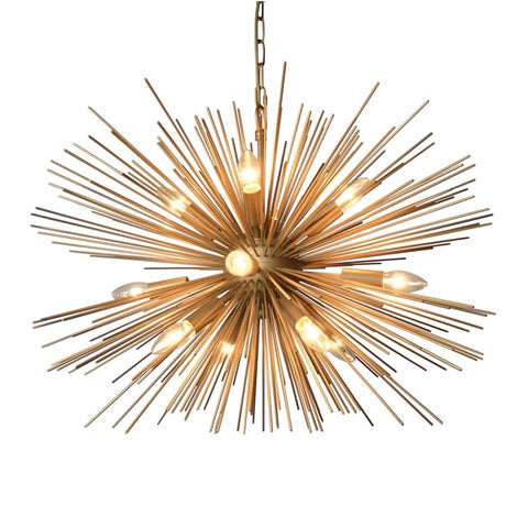 Spark gold starburst chandelier