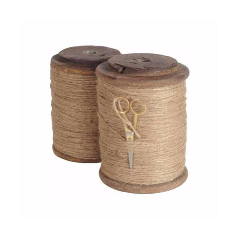 Thimble Spool jute wood metal