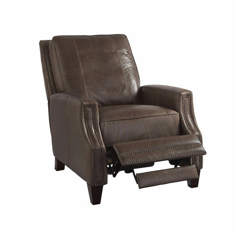 Tomlin umber leather recliner