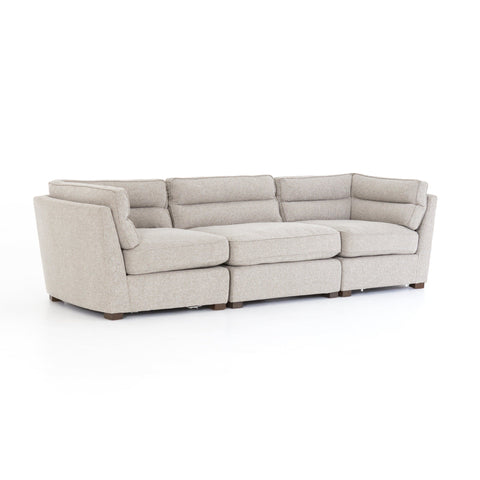 tucker 3 piece tan sectional