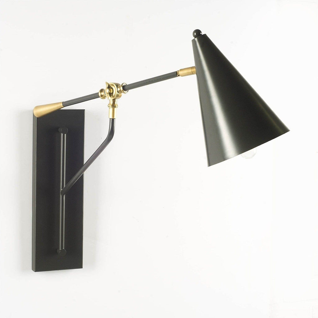 Vector black brass wall sconce