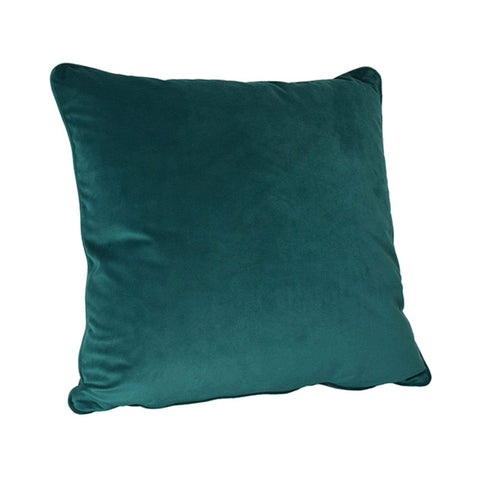 Performance Velvet Pillow kid and pet friendly fabric teal color home decor sustainable