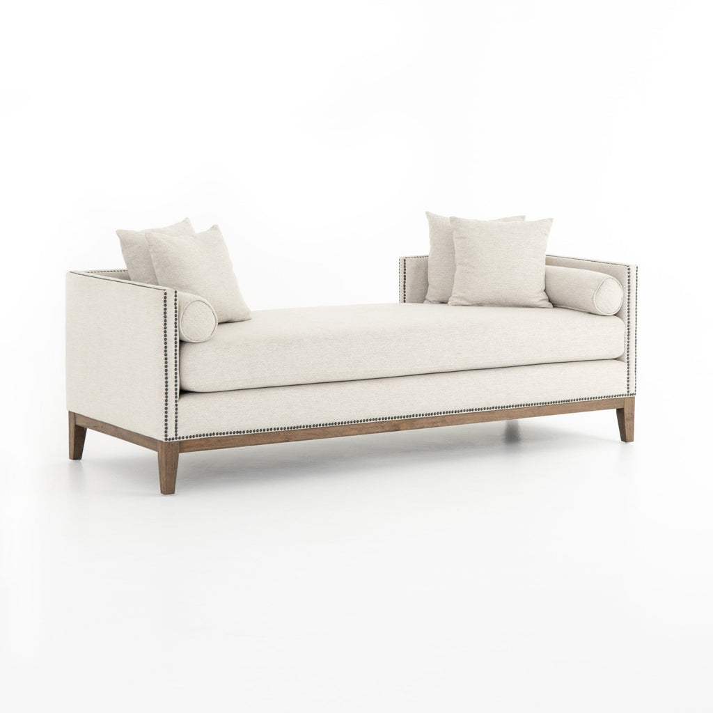 Venus white upholstery chaise