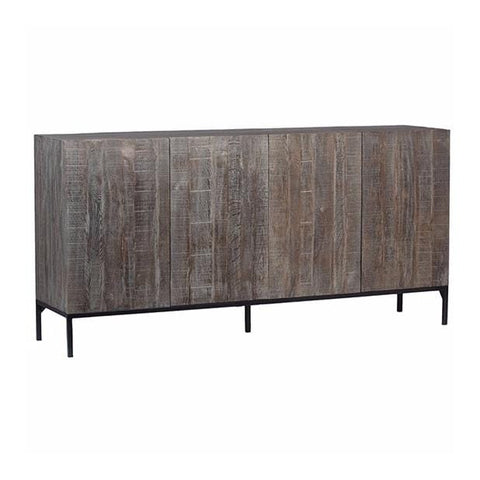 vernon grey washed wood iron sideboard