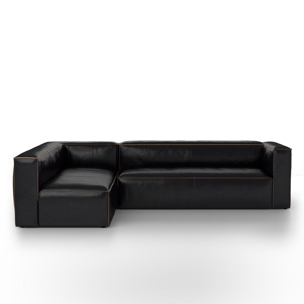 Virden Leather Sectional 120