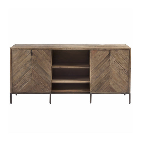 Wallace media elm wood cabinet