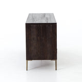 Whitney dark reclaimed wood brass media cabinet