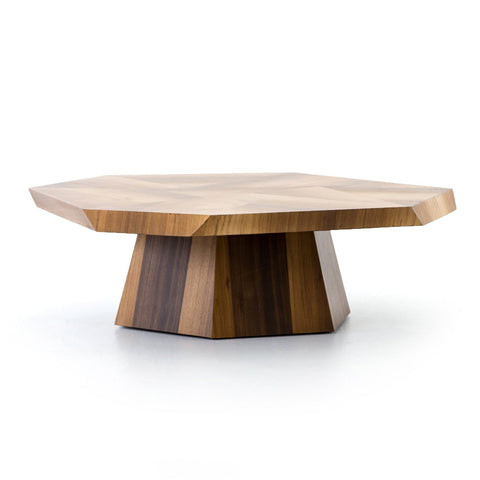 Yuka wood octagonal coffee table