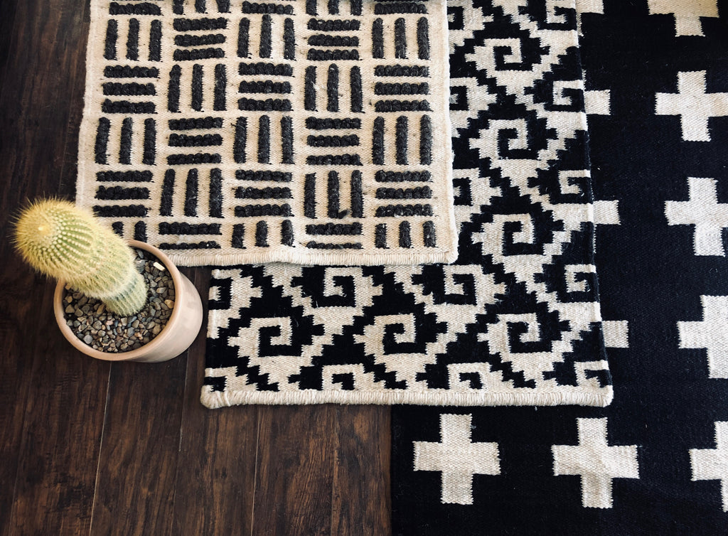 Wool Rug w/ Crosses