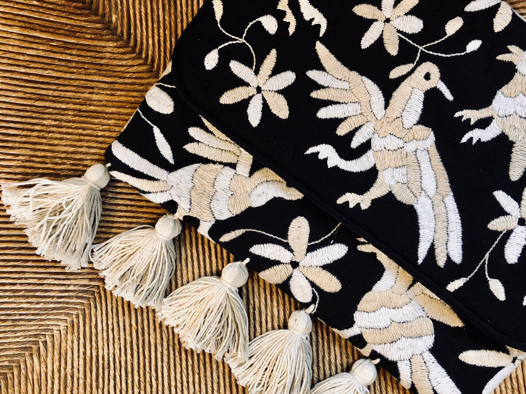 Otomi Hand Embroidered Clutch