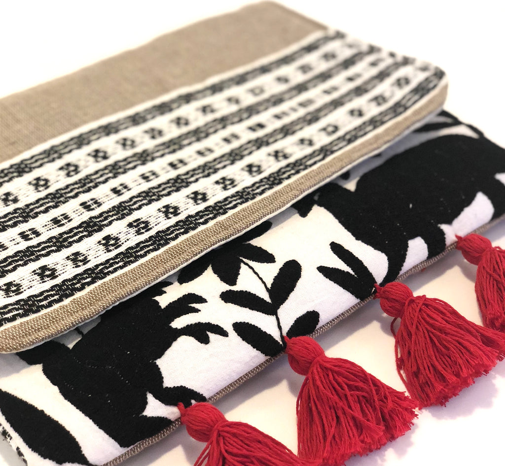 Otomi Hand Embroidered Combination Clutch