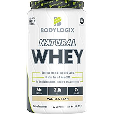Bodylogix Natural Grass-Fed Whey Protein Powder, NSF